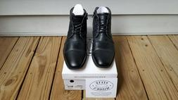 Steve Madden Men's Johnnie Black Leather Boots Size 12 Mens