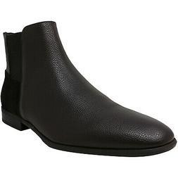 Calvin Klein Men's Larry Tumbled Leather Calf Suede Ankle-Hi