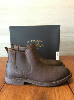 Men's Bass Leather Chelsea Boots Brown, Size 10