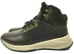 Khombu Men's Leather Memory Foam Lightweight Hiker Boots Bro