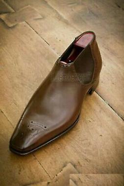 Handmade Men's Leather New Dress Fashion Brown Derby Oxford