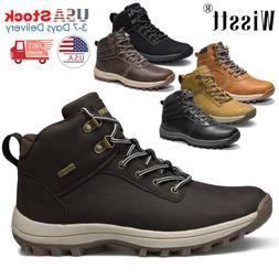 Men's Leather Work Boots Outdoor Waterproof Martin Boots Hik