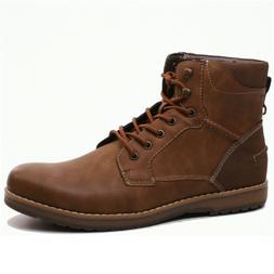 Men's IZOD LEON Dark Tan Lace-Up Ankle Boot Shoes