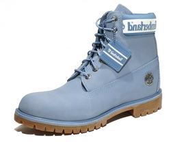 "Timberland Men""s Light Blue 6 Inch Premium Waterproof Boots"