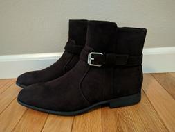 Calvin Klein Men's Lincoln Suede Brown Boots Zip Dress Shoes