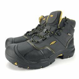 Keen Men's Logandale Waterproof Black Steel Toe Boots Size 1