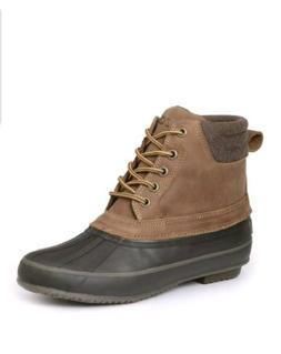 IZOD Men's MARSH Lace-Up Water Resistant Duck Boots TAN/BROW