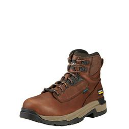 "Ariat® Men's MasterGrip 6"" Waterproof Composite Toe Brown W"