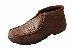 Twisted X Boots Men's MDM0059 Driving Mocs Chukka Boot Brown