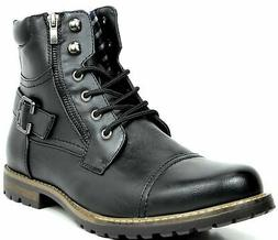BRUNO MARC NEW YORK Men's Military Motorcycle Combat Boots 1