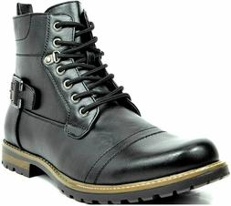 BRUNO MARC NEW YORK Men's Military Motorcycle Combat Boots V