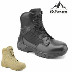 Men's Military Tactical Work Boots Side Ankle Hiking Motorcy