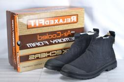 Men's Skechers Milton Rolent Slip On Ankle Boots Black