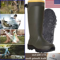 HISEA Men's Muck Hunting Work Boots Waterproof Breathable Ru