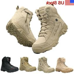 Men's Outdoor Hiking Combat Military Boots Shoes for Camping