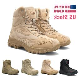 Men's Military Tactical Boots Waterproof Hiking Combat Side-