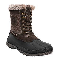 NORTIV 8 Men's Outdoor Work Boots Winter Suede Leather Water
