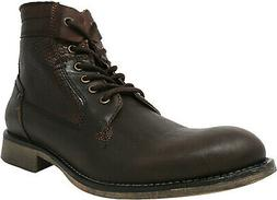 Steve Madden Men's P-Quays Leather Ankle-High Boot