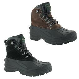 Fuda Men's Pac Snow Suede Waterproof Thinsulate Winter Boots