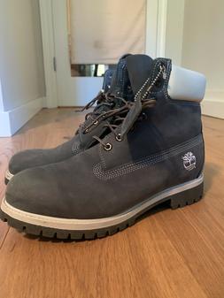 "Timberland Men's Premium 6"" Classic Leather Boots - Dark G"