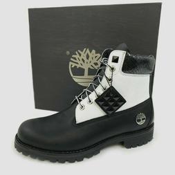"""Timberland Men's Premium 6"""" Heritage Black & White Waterproo"""
