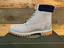 Timberland Men's Premium 6 In Waterproof Medium Grey Nubuck