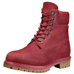 Timberland Men's Premium 6 inch Classic Leather Boots Red /