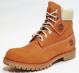 Timberland Men's Premium 6 inch Leather Boots Orange Thanksg