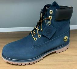 Timberland Men's Premium 6 Inch Waterproof Boots - Navy Nubu