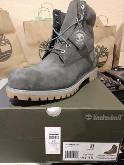 "Men's Timberland Premium 6"" Waterproof Boot Dark Grey #TB0A1"