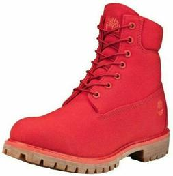 Timberland Men's Premium Thread 6 inch Canvas Fabric Red Boo