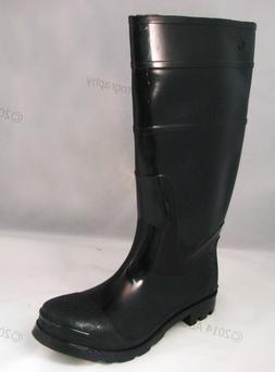 Brand New Mens Rain Boots Black Rubber Waterproof Slip-Resis