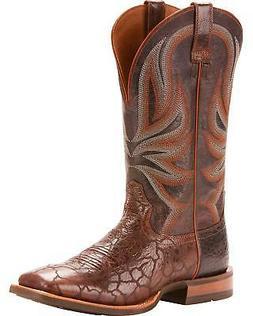 Ariat Men's Range Boss Wildhorse Chocolate Cowboy Boot - Squ