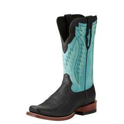 Ariat® Men's Relentless™ Prime Black Bullhead Light Aqua