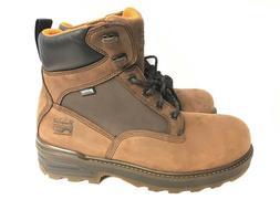 Timberland Men's Resistor Brown Leather Waterproof Steel Toe