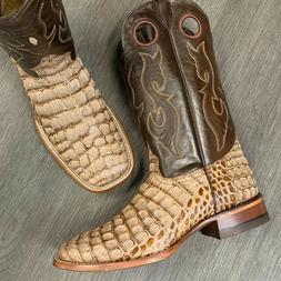 MEN'S RODEO COWBOY BOOTS COCO ALLIGATOR PRINT WESTERN SQUARE