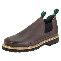 Georgia Boots Romeo Men's Work Shoes Brown Leather Soft Toe