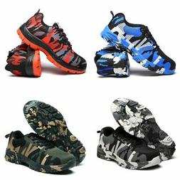 Men's Safety Lightweight Work Mesh Shoes Steel Toe Boots Ind