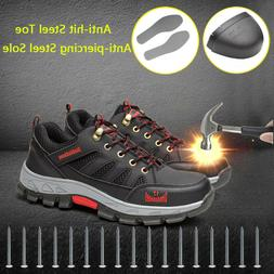 Men's Safety Shoes Fashion Steel Toe Sole Breathable Work Bo