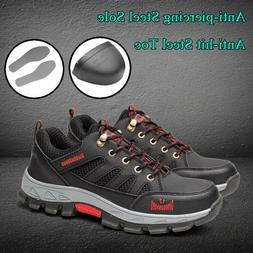 Men's Safety Shoes Steel Toe Steel Sole Breathable Work Hiki