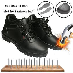 Men's Safety Shoes Waterproof Steel Toe Steel Sole Leather W