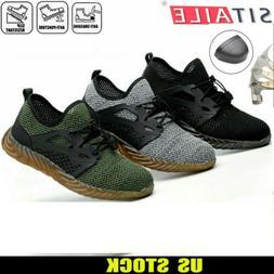 Men's Safety Work Shoes Indestructible Steel Toe Ventilation