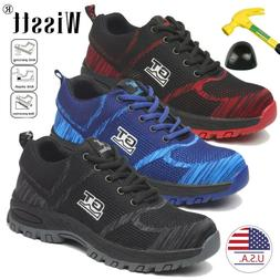 Men's Safety Work Shoes Steel Toe Boots Outdoor Sneakers Hik
