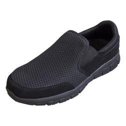 EVER BOOTS Men's Slip Resistant Work Shoe Comfort Slip On Li