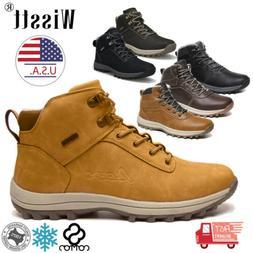 Men's Snow Boots Winter Waterproof Leather Warm Fur Outdoor