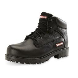 Craftsman Men's Soft Toe Leather Work Boot Kahn Black Slip O