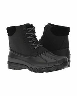 Men's Sperry Top Sider Boots Size 8 Avenue Black Duck Cordur