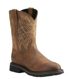 MEN'S ARIAT STEEL TOE EVERETT DISTRESSED BROWN WORK BOOTS SA