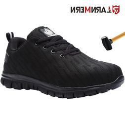 LARNMERN Men's Steel Toe Safety Work Shoes Breathable Indest