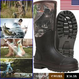 HISEA Men's Muck Work Boots Rubber Neoprene Insulated Breath